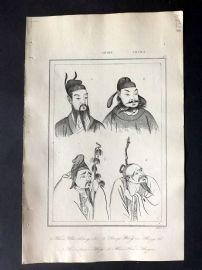 L'Univers C1850 Antique Print. Chinese Emperors, Chine 45